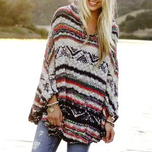 🧡Coming Soon🧡 Long Sleeve Hooded Poncho Sweater